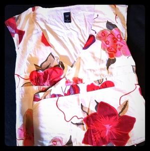 Gap floral wrap blouse